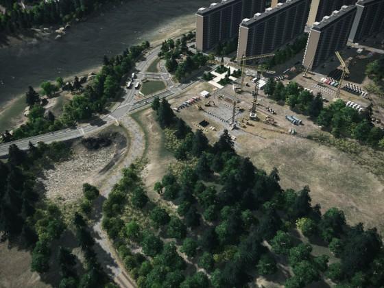 Lindblum - Artificial Lake Construction Site