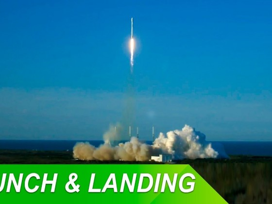 SpaceX Falcon 9 TESS mission launch and landing 4/18/2018