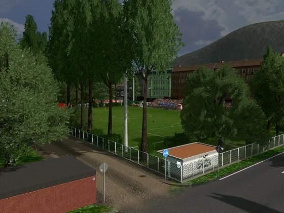 utopie eines Trainingplatzes des SV Wehen Wiesbaden in Cities Skylines