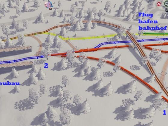 Linienplan nördlich alt