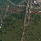 Gleisführung alt nördlich vom Bahnhof