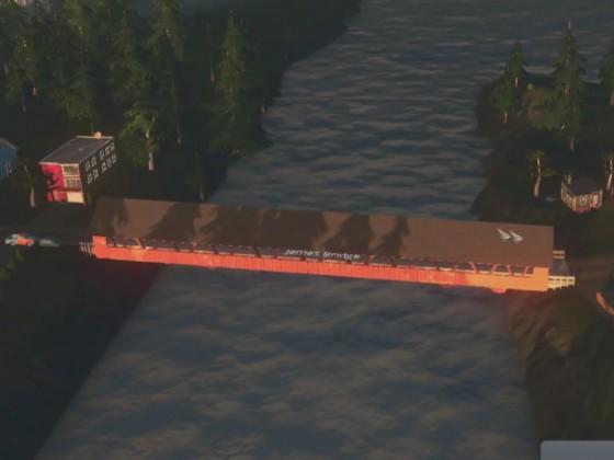 Brücke für Kiesstraßen