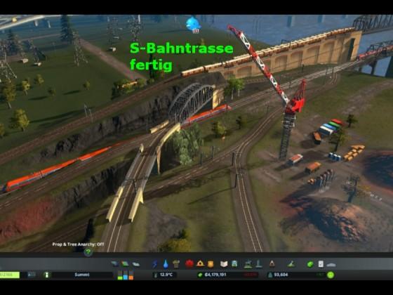 S-Bahntrasse fertig gestellt