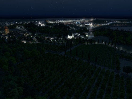 Rathenau bei Nacht