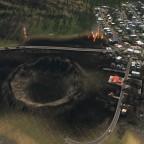 Einschlag eines Meteor