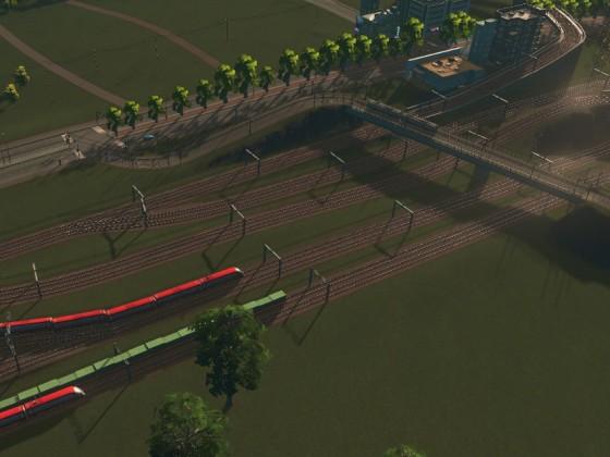 Gleisvorfeld Süd bis zur Gabelung