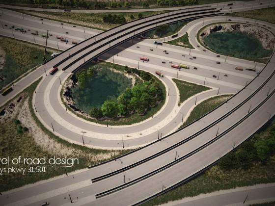 next level of road design - Carolina Bays Pkwy 31-501