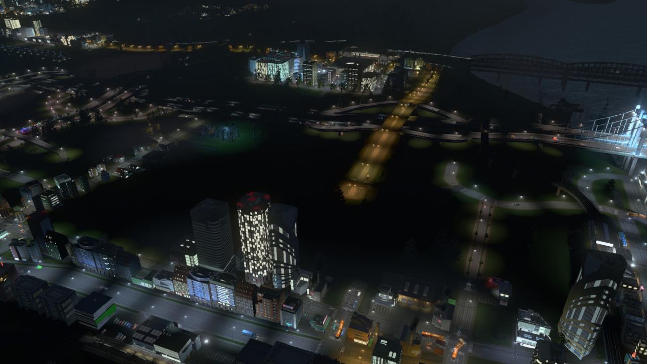 Night 6, eine Lücke trennt die Stadt