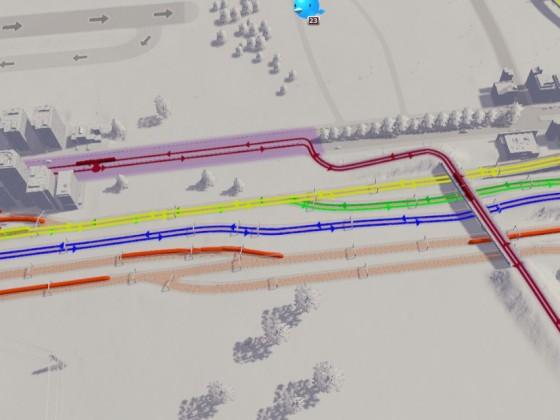 Linienplan südliches Gleisvorfeld