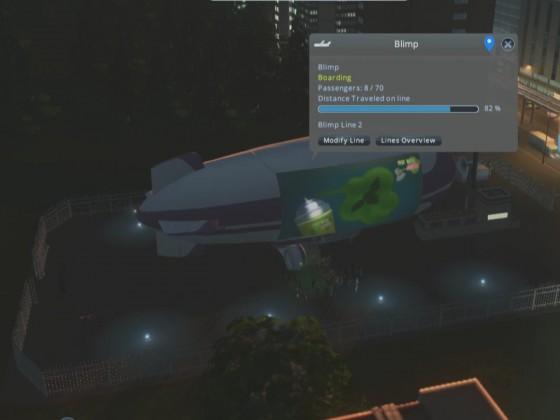 Luftschiff am Landeplatz