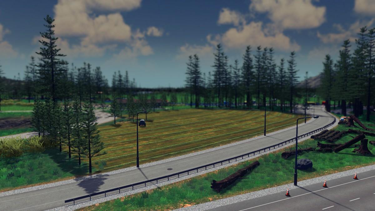 Feld an der Autobahn
