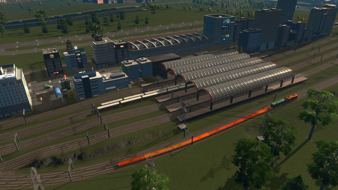 Zentraler Flughafenbahnhof und Flughafen